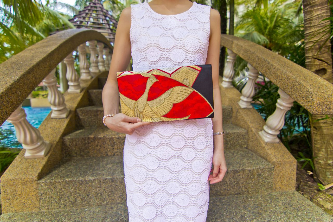 Japanese Obi Silk Clutch Bag